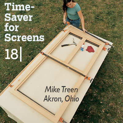 Time-Saver for Screens tip from the this old house reader remodel issue 2012