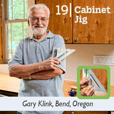 Cabinet Jig tip from the this old house reader remodel issue 2012