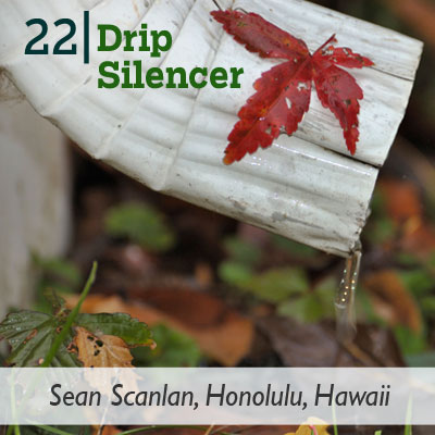 Drip Silencer tip from the this old house reader remodel issue 2012