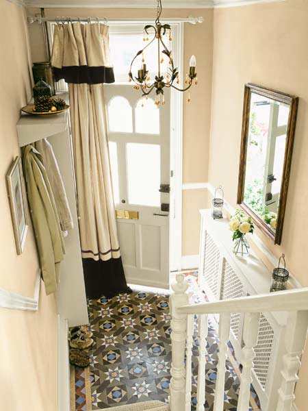 Home fix ups on a budget off your plate for Front door curtain ideas
