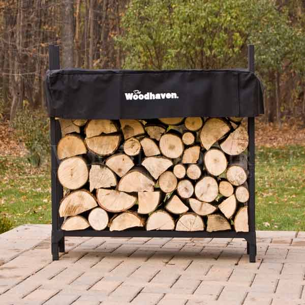 firewood rack with cover