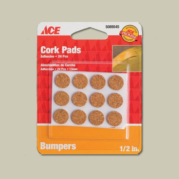 cork bumpers for silencing cabinets doors and drawers