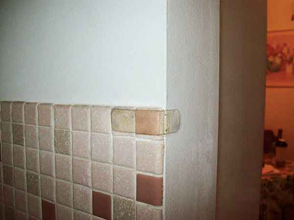 band-aid reattaching a loose wall tile in the this old house Home Inspection Nightmares XXVIII gallery