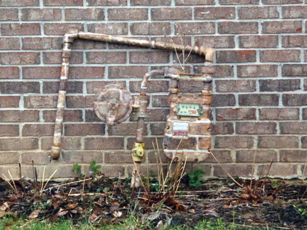 camouflage painted exterior gas meter in the this old house Home Inspection Nightmares XXVIII gallery