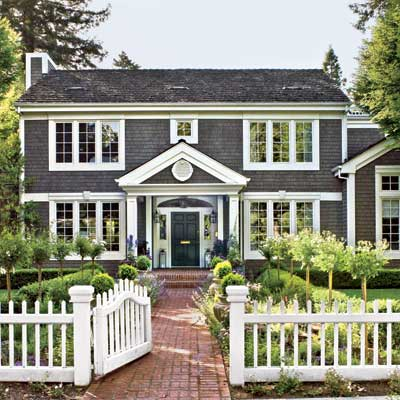 exterior of this remodeled, light-filled colonial home