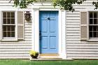 blue exterior front door