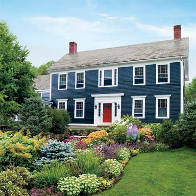 Colonial Blue With White Trim Home Ideas Pinterest