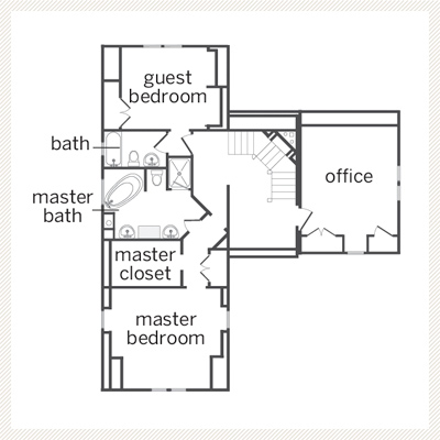 floor plan of Dutch Colonial second floor