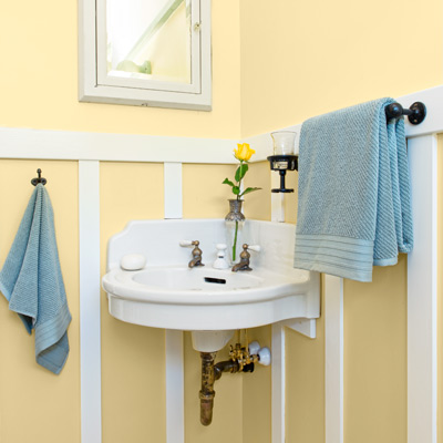 bungalow house bath salvaged corner sink
