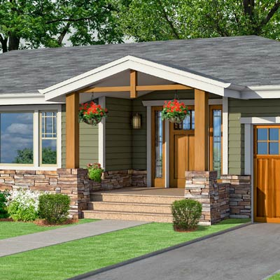 a Craftsman-style Photoshop redo focuses on the porch