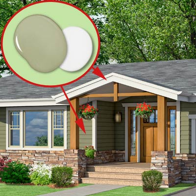 a Craftsman-style Photoshop redo focuses on the paint colors