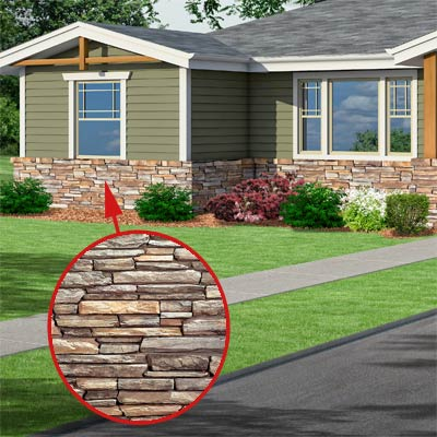 a Craftsman-style Photoshop redo focuses on the stone veneer