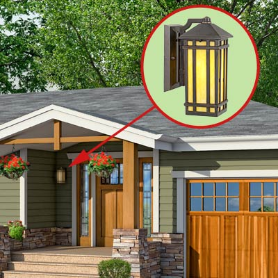 a Craftsman-style Photoshop redo focuses on the sconce