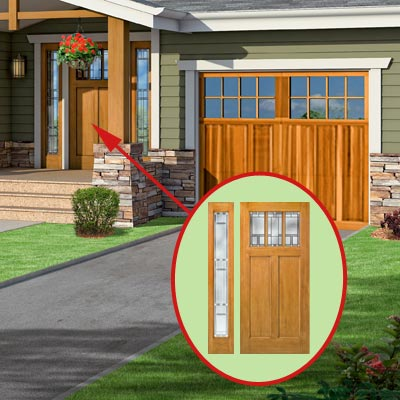 a Craftsman-style Photoshop redo focuses on the front door