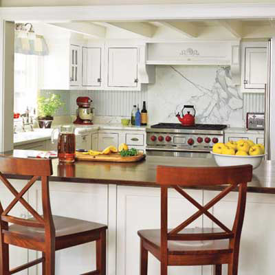 white cottage-style kitchen