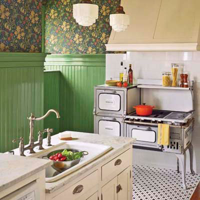 gutted vintage cottage-style kitchen