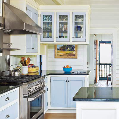 beachside v groove-paneling cottage-style kitchen