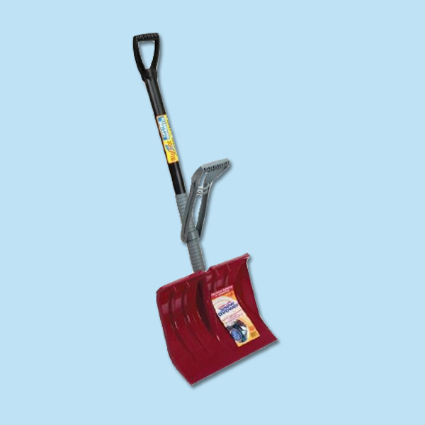 height-adjustable snow shovel for storm preparation