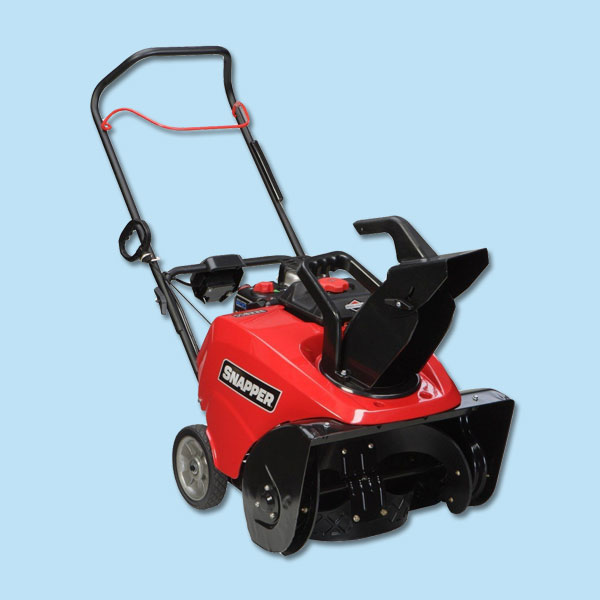 gas-powered snow thrower for storm preparation