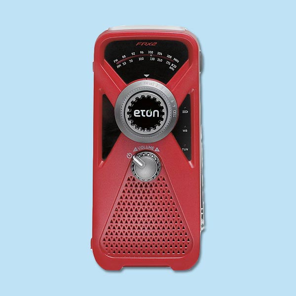 hand crank radio for storm preparation