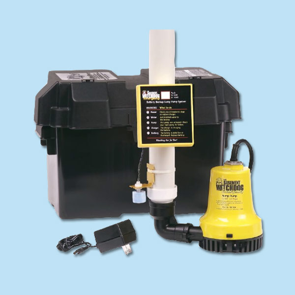 battery backup sump pump for storm preparation