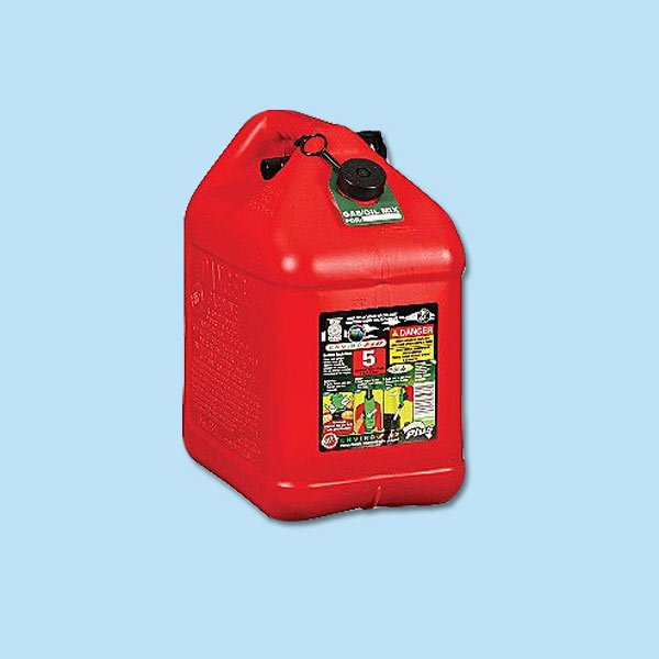 air-tight gas can for storm preparation