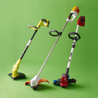three Cord-free String Trimmers