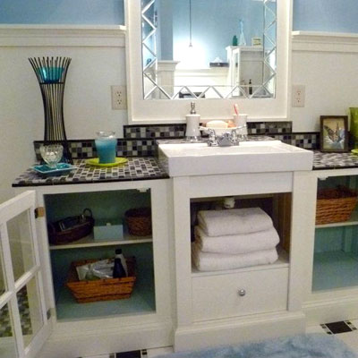 reader remodel built-in bath project after