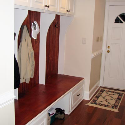 reader remodel built-in mudroom project after