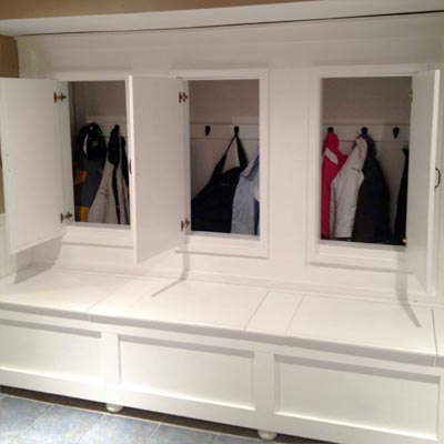 reader remodel built-in basement project after