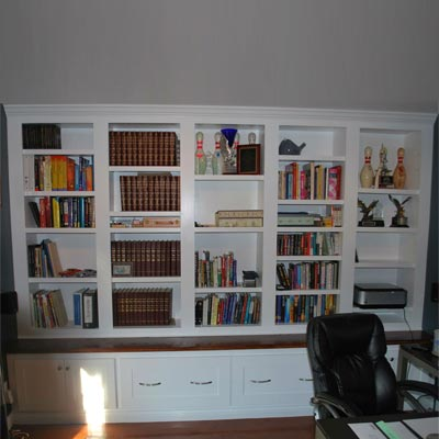 reader remodel built-in office storage project after