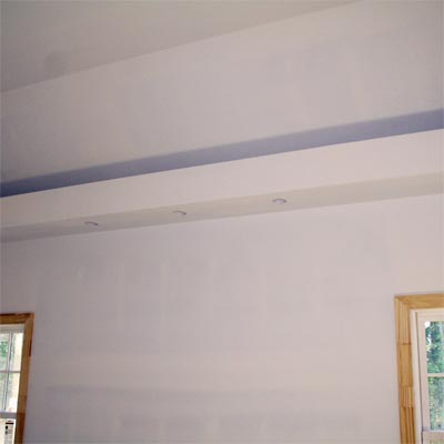 reader remodel built-in ceiling project before