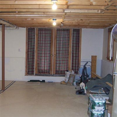 Bare-Bones Basement Upgrade: Before from Best Living Spaces Before and Afters 2012