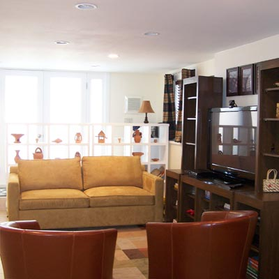 Bare-Bones Basement Upgrade: After from Best Living Spaces Before and Afters 2012