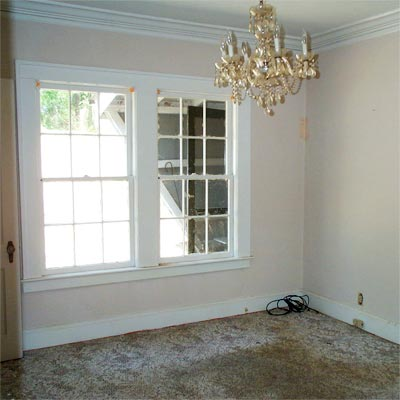 Great Space in Back of Home: Before from Best Living Spaces Before and Afters 2012