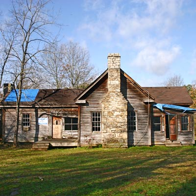 Georgia farmhouse built in the 1840s