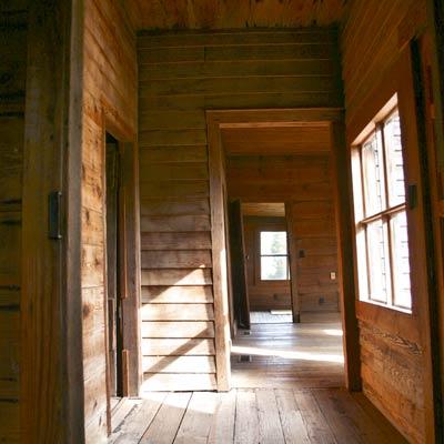 hallway of a Georgia farmhouse built in the 1840s
