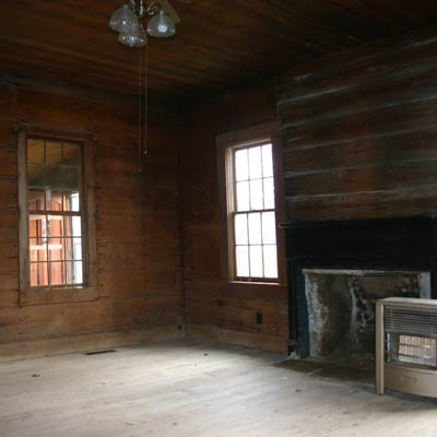 living room of a Georgia farmhouse built in the 1840s