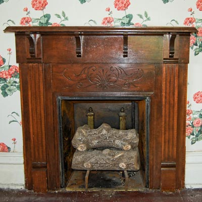 Save This Old House Anaconda, Montana original mantel in bedroom
