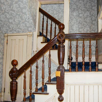 Save This Old House Anaconda, Montana original balustrades on staircase