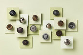 a grouping of fancy cabinet knobs