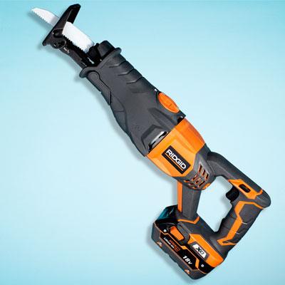 a Ridgid cordless reciprocating saw