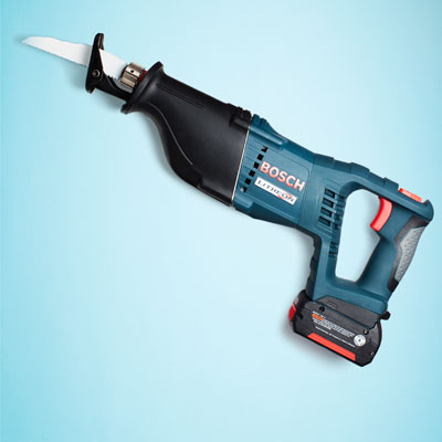 a Bosch cordless reciprocating saw