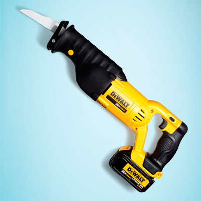 a DeWalt cordless reciprocating saw