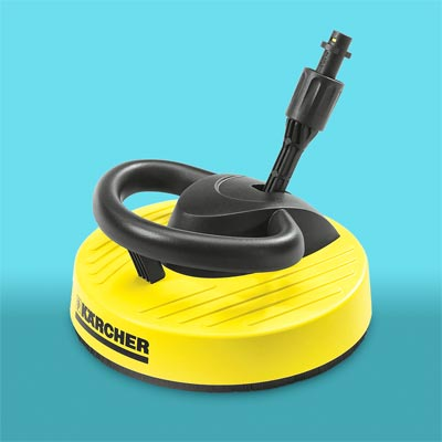 surface cleaner disk attachment for a power washer
