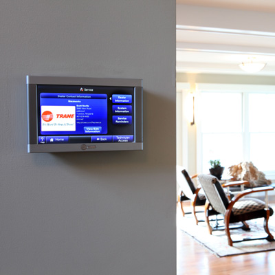 HVAC programmable thermostat