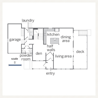 Cape Cod floor plan first floor