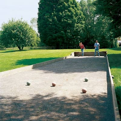 backyard simple bocce ball court