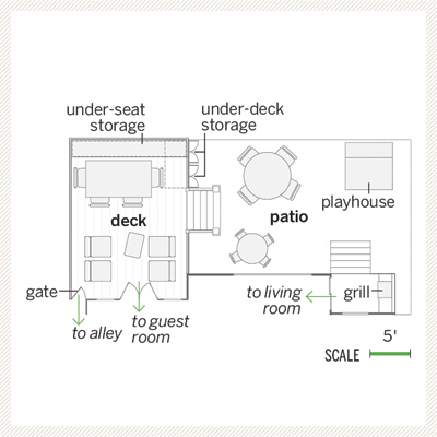 floor plan of backyard deck and patio 