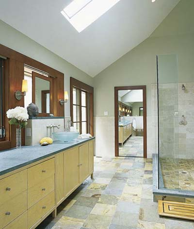 a clean slate 2 sinks 2 person shower 1 happy couple. Black Bedroom Furniture Sets. Home Design Ideas